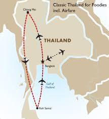 Thailand On World Map by Classic Thailand For Foodies Incl Airfare