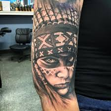 native american indian sleeve tattoos pictures to pin on pinterest