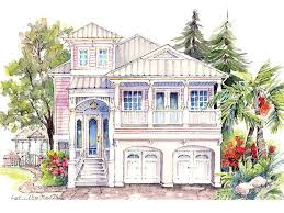 waterfront house plans narrow lot house design plans