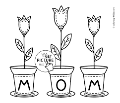 day flowers coloring pages for kids printable free