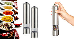 electric salt pepper mill grinder with light 2 x light up electric salt pepper mill stainless steel electronic