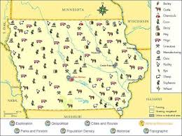 map usa iowa agriculture iowa