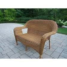 Wicker Loveseat Patio Furniture - amazon com oakland living resin wicker loveseat natural