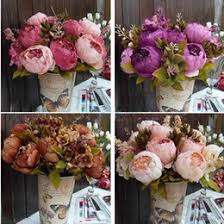 Fake Peonies Discount Fake Peonies Bouquets 2017 Fake Red Peonies Bouquets On