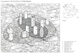 the gherkin how london s famous tower leveraged risk and became drawings like this one from an intermediate planning and design report suggested that the tower would