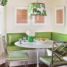 Green Table L L Shaped Banquette Design Ideas