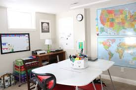 a tour of our homeschool classroom