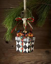 mackenzie childs harlequin present ornament