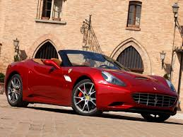 Ferrari California Convertible - red ferrari convertible