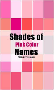 pink color shades unique shades of pink names ideas on pinterest names of home