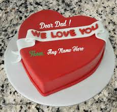 write name on heart birthday cake for dad happy birthday cake images