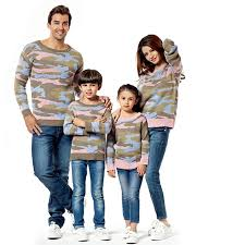aliexpress buy family sets clothes camouflage sweaters new