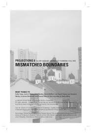 projections 6 mismatched boundaries by mit dusp issuu