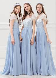 modest bridesmaid dresses buy discount modest tulle chiffon scoop neckline cap sleeves a