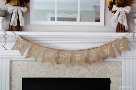 fall mantel and burlap banner tutorial i nap time