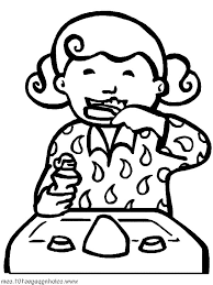 Brush Your Teeth Before Sleep For Its Health Coloring Pages Brushing Teeth Coloring Pages