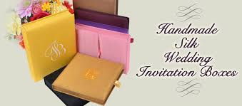 Wedding Invitations Box Wedding Invitation Box Handmade Silk Invitation Box