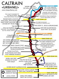 Trolley San Francisco Map by San Francisco Bay Area U0027s Caltrain Map Urbane Maps Pinterest