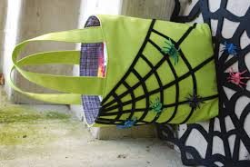 frozen halloween basket diy trick or treat bag pattern with sticky spiderwebs and moving