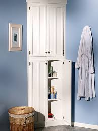 Bathroom Cabinet Shelf by How To Build A Corner Linen Cabinet Adding Extra Storage Space