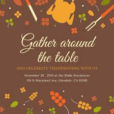 illustrated thanksgiving social media post templates by canva