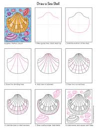 crayola art projects coloring page 5 how to draw a sea shell