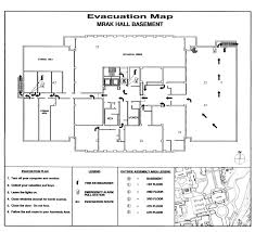Fire Evacuation Plan Template For Office by Ca U0026es Dean U0027s Office Mrak Hall Building Evacuation Plan And