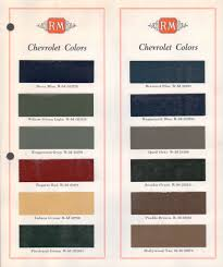 paint chips 1934 gm chevrolet