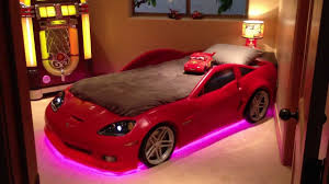 step 2 corvette bed with custom lights youtube