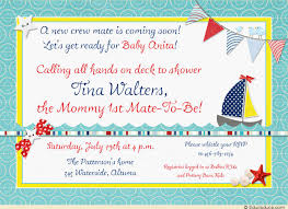 nautical baby shower invitations nautical baby shower invitation ahoy