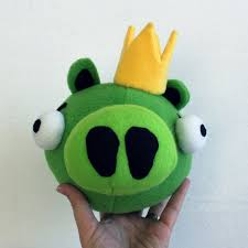 obsessively stitching angry birds plush green white black