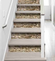 sticker trompe oeil stickers pour escalier 3 stickers contremarche pierres en trompe