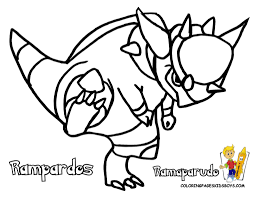 cool picture pokemon rampardos coloring pages book for boys bebo