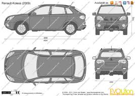 renault koleos 2015 the blueprints com vector drawing renault koleos