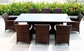 wicker dining table with glass top the most dining room awesome outdoor dining area ideas feat brown