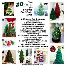 20 free patterns for crochet christmas trees u2022 oombawka design crochet
