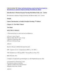 download test bank for introduction to medical surgical nursing