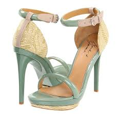 wedding shoes green mint green pink strappy heels happy wedding