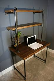 wood computer desk with hutch computer desk w storage shelves reclaimed wood ny usa lower