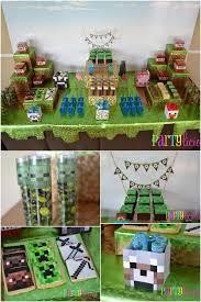minecraft birthday supplies minecraft birthday party dessert table ideas www