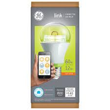 Led Light Bulbs Wattage Conversion by Ge Link Smart Led Light Bulb A19 Soft White 2700k 60 Watt