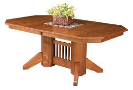 Amish Oak Dining Room Furniture Amish Furniture Hand Crafted Solid Wood Pedestal Tables Amish