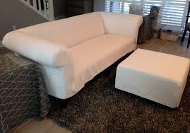 Chesterfield Sofa Covers Chesterfield Sofa Slipcover In White Sunbrella Fabric Fabric 8