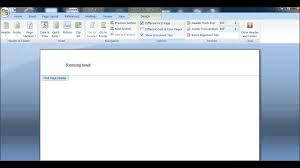 design header paper how to create a running head for an apa paper youtube