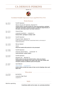 Production Operator Resume Sample by Download Forklift Resume Haadyaooverbayresort Com