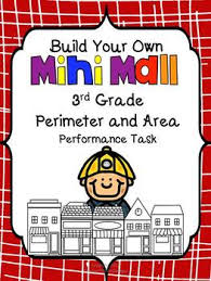 build your own mini mall perimeter and area task 3rd grade common core