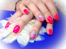 neon pink and grey rose fluo et gris gel nails ongles en gel