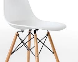 Eames Style Rar Molded Black Dsw Molded Plastic Side Chair Wooden Dowel Base Dsw Modern Chair