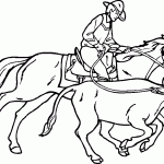 cowboy coloring pages cowboy coloring pages riding horse