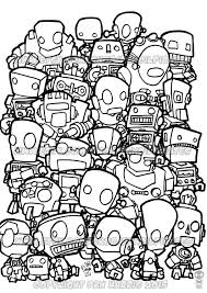 robot colouring page colouring book page one page